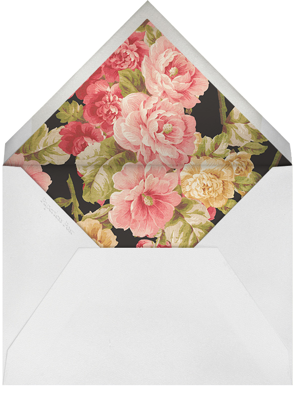 Garden Floral Ikat - Oscar de la Renta - Bridal shower - envelope back