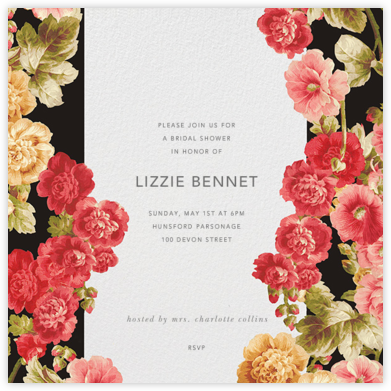 Garden Floral Ikat - Oscar de la Renta - Bridal shower invitations