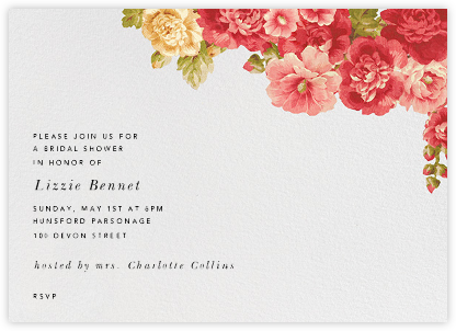 Garden Floral Ikat (Horizontal) - Oscar de la Renta - Bridal shower invitations