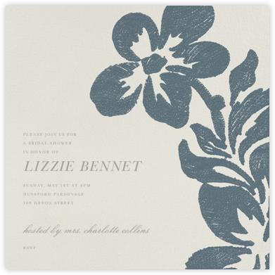 Flora - Blue - Oscar de la Renta - Bridal shower invitations