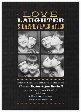 Happily Ever After - Crate & Barrel - Engagement party invitations
