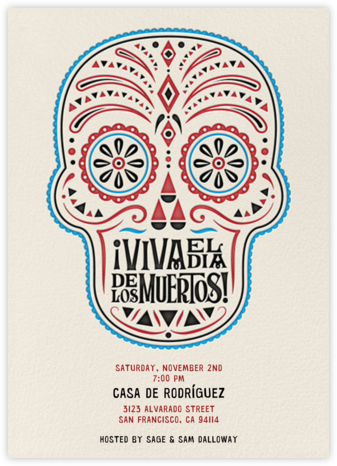 Day of the Dead - Light - Crate & Barrel - Halloween invitations