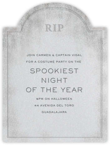 Tombstone - Paperless Post - Halloween invitations