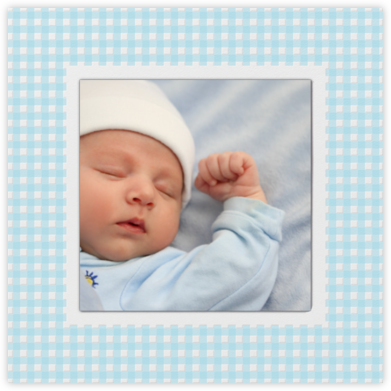 Gingham Photo - Blue - Paperless Post -