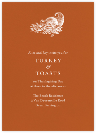 Pumpkin - Tall - Paperless Post - Thanksgiving invitations