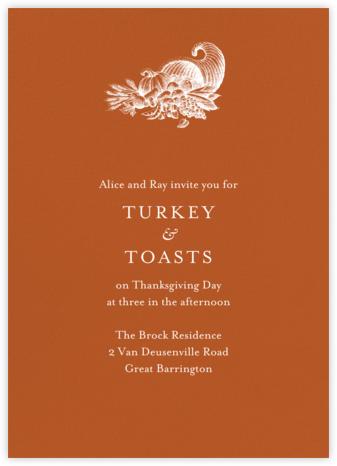 Pumpkin - Tall - Paperless Post - Thanksgiving invitations