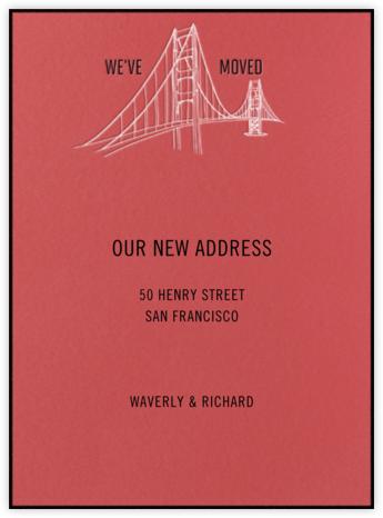 Golden Gate Bridge (Coral) - Paperless Post -