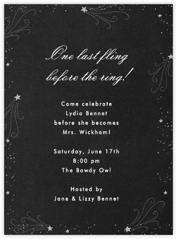 Galaxy (Pitch) - Paperless Post - Bachelorette party invitations