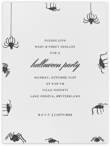 Spiders (Ivory) - Paperless Post - Halloween invitations