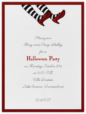 Wicked Witch Feet - Paperless Post - Halloween invitations