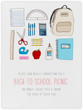 Back 2 School Supplies - Paperless Post - Invitations