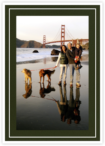 Double Border Photo (Tall) - Hunter - Paperless Post - Holiday cards