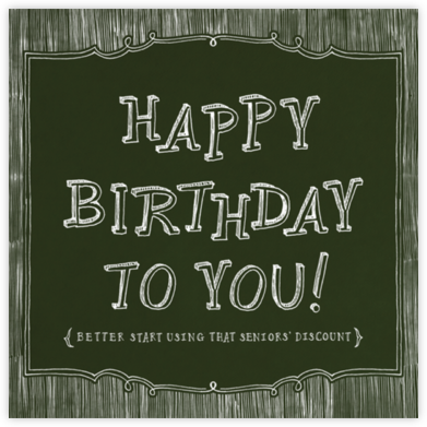 Chalkboard Happy Birthday - Paperless Post -