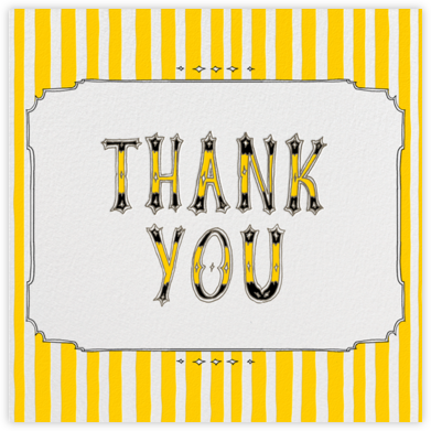 Cirque (Thanks) - Yellow - Paperless Post - Graduation Thank You Cards