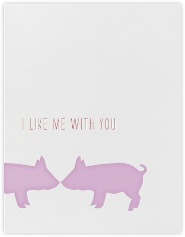 Kissing Pigs - Linda and Harriett - Valentine's day cards