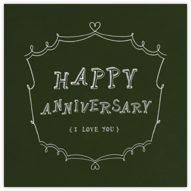 Chalkboard - Happy Anniversary - Paperless Post - Anniversary Cards