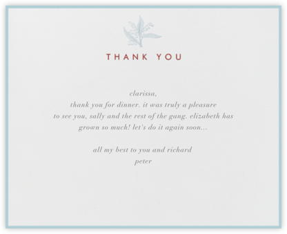 Lilies of the Valley Thank You (Ivory) - Paperless Post - General thank you notes