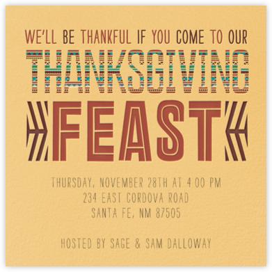 Southwest Thanksgiving - Crate & Barrel