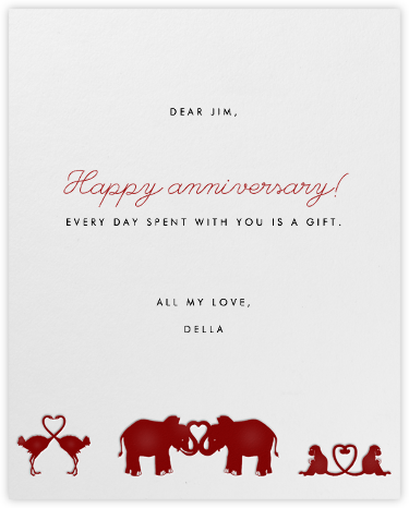 Jungle Valentine - Paperless Post - Anniversary Cards