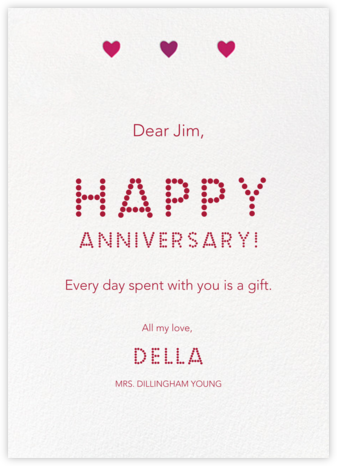 Triple Hearts - Paperless Post - Anniversary Cards