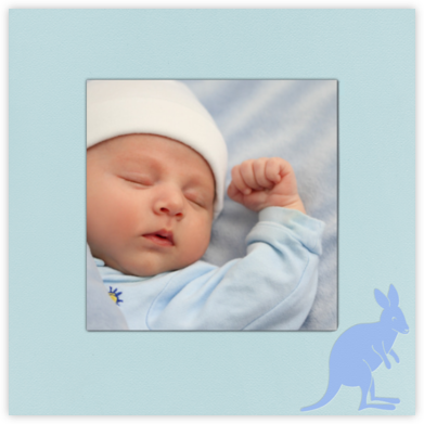 Kangaroo (Light Blue) - Paperless Post -