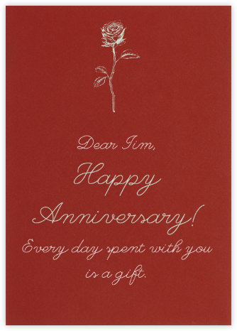 Crimson - Paperless Post - Anniversary Cards