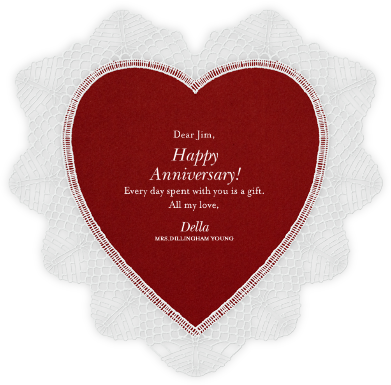 Lace Heart - Paperless Post - Anniversary Cards
