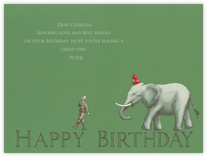Birthday Elephant - Paperless Post - Birthday Cards for Him