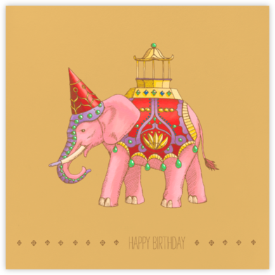 Majestic Elephant - Paperless Post - Birthday Cards