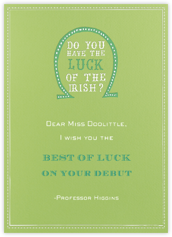Luck of The Irish - Charterhouse - Mr. Boddington's Studio - Good Luck Cards