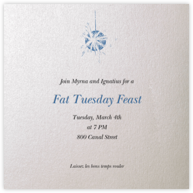 Oyster (square) - Paperless Post - Mardi Gras invitations