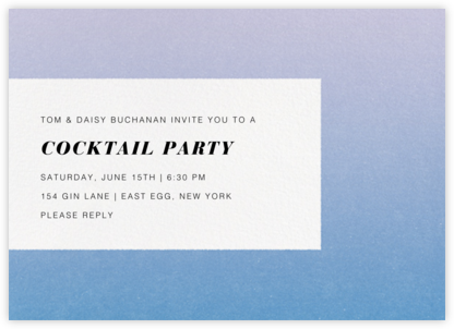 Gradient Edges - Blue - Paperless Post - Online Party Invitations