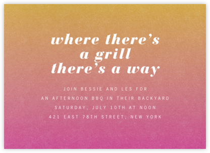 Gradient Full Horizontal - Pink - Paperless Post - Summer Party Invitations