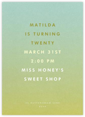 Gradient Full - Green - Paperless Post - Adult Birthday Invitations