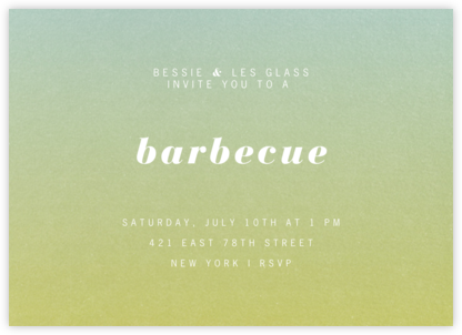 Gradient Full Horizontal - Green - Paperless Post - Summer entertaining invitations