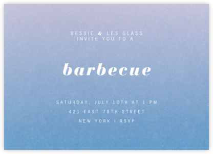 Gradient Full Horizontal - Blue - Paperless Post - Dinner Party Invitations