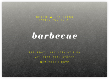 Gradient Full Horizontal - Black - Paperless Post - Barbecue and picnic invitations