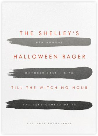 Gradient Brush Strokes - Black - Paperless Post - Halloween invitations