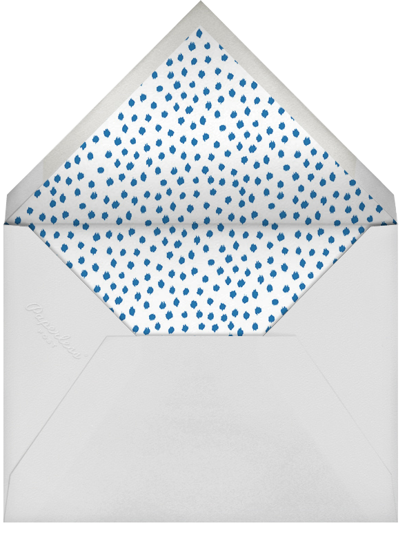 Ikat Dot - Indigo/Ivory - Oscar de la Renta - Rosh Hashanah - envelope back