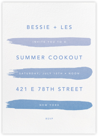 Gradient Brush Strokes - Blue - Paperless Post - Online Party Invitations