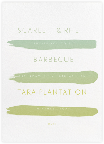 Gradient Brush Strokes - Green - Paperless Post - Barbecue and picnic invitations