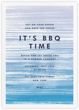 Gradient Messy Strokes - Blue - Paperless Post - Summer entertaining invitations