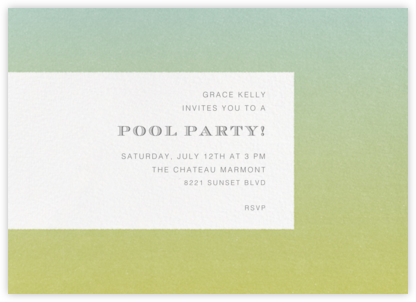 Gradient Edges - Green - Paperless Post - Summer entertaining invitations