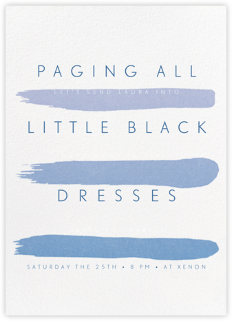 Gradient Brush Strokes - Blue - Paperless Post - Bachelorette party invitations