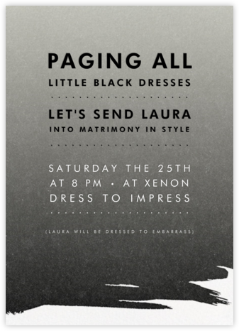 Gradient Painted - Black - Paperless Post - Bachelorette Party Invitations