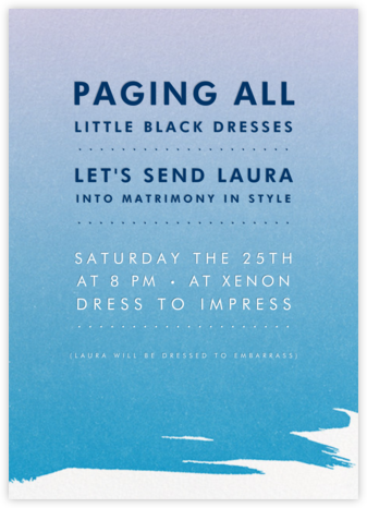Gradient Painted - Blue - Paperless Post - Bachelorette party invitations