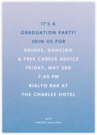 Gradient Full - Blue - Paperless Post - Celebration invitations