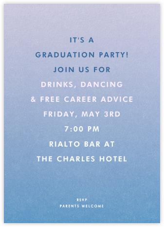 Gradient Full - Blue - Paperless Post - Celebration invitations