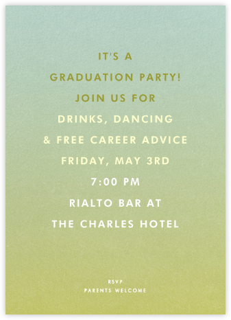 Gradient Full - Green - Paperless Post - Celebration invitations