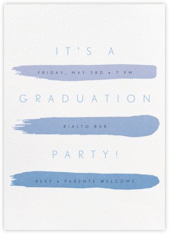 Gradient Brush Strokes - Blue - Paperless Post - Celebration invitations